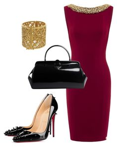 """Fine Wine"" by kmags4 ❤ liked on Polyvore featuring Chanel, Christian Louboutin and Prada"