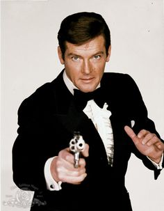 Roger Moore and James Bond in Live and Let Die