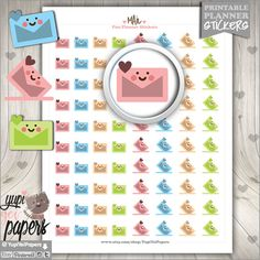 Mail Stickers, Planner Stickers, Delivery Stickers, Envelope Stickers, Post Stickers, Printable Planner Stickers, Mail, Erin Condren