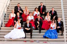 July 4th Wedding; Red white and blue wedding