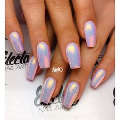 Mermaid Effect Nails by electanailart