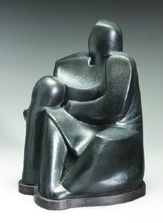 Mother and Child' —Sargent Claude Johnson circa 1930 African American Culture, African American Artist, American Artists, Harlem Renaissance Artists, Renaissance Artworks, Iconic Album Covers, Ceramic Figures, Impressionist Art, Contemporary Sculpture