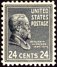 Benjamin Harrison 1938 Issue-24c - U.S. presidents on U.S. postage stamps - Wikipedia, the free encyclopedia