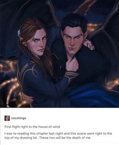 Feyre & Rhysand by cocotingo