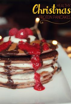 Delicious Christmas Protein Pancakes with Sugar-Free Ingredients