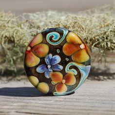 Woodland Bouquet  K O Lampwork  1 Floral Focal Bead door koregon