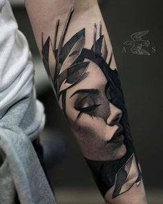 90 Coolest Forearm Tattoos Designs for Men and Women You Wish You H . - Tattoos - Tattoo Designs For Women Tattoo Girls, Girl Face Tattoo, Girl Tattoos, Crow Tattoos, Phoenix Tattoos, Model Tattoos, Body Art Tattoos, Sleeve Tattoos, Portrait Tattoos
