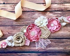 Blue, Brown and Ivory Boy Maternity Sash Cowboy Baby Shower Sash Maternity Flower Girl Baby Shower Dress Accessory Photo Prop, Dress Sash Baby Shower Sash, Cowboy Baby Shower, Baby Shower Flowers, Baby Shower Dresses, Cream Flowers, Gold Flowers, Burlap Flowers, Fabric Flowers, Vestidos Para Baby Shower
