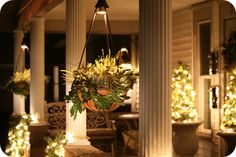 found lighted hanging baskets, but still searching for baskets that are lit at the rim