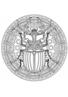 Figurative Mandala, a beetle within a square coloring page Peacock Coloring Pages, Mandala Coloring Pages, Animal Coloring Pages, Coloring Book Pages, Printable Coloring Pages, Mandala Origami, Butterfly Mandala, Doodles Zentangles, Free Coloring Sheets