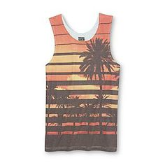 Always Push Forward- -Men's Graphic Tank Top - Tropical sunset