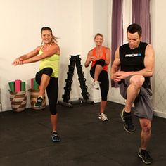 10-Minute Full-Body Workout With P90Xs Tony Horton  Several 10 minute exercise videos from Cross fit, yoga, zumba and P90X