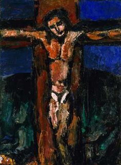 """Georges Rouault, French expressionist artist, (1871 – 1958), painted """"Crucifixion"""