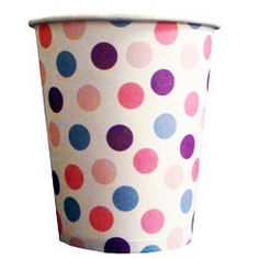 Purple, pink and blue polka dot paper cups Polka Dot Paper, Blue Polka Dots, Rose Mauve, Sweet Party, Purple Love, Pink Purple, Deco, Paper Cups, Violet