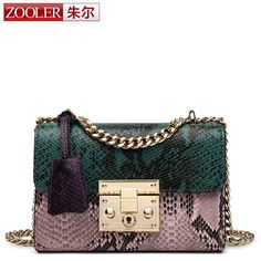 ZOOLER brand genuine leather women's messenger bags Small cross body chains shoulder bags  on AliExpress