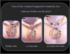 custom Gem accent chain for pendants custom by RosesWireArtJewelrY, $8.00