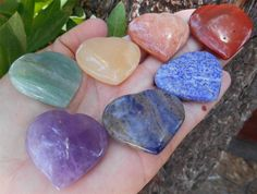 7 Heart Chakra Gem Stones Set  Reiki Healing Metaphysical