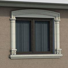 Front Wall Design, Front Window Design, Exterior Door Designs, Classic House Design, Window Molding, Window Trim Exterior, House Window Design, House Outside Design, Windows Exterior