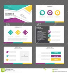 Blue Yellow White Collateral Design  Flat Design Inspiration