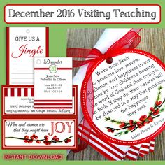 December 2016 Visiting Teaching Kit
