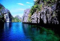Figure out how blue water can be when tourists aren't peeing in it at Palawan, PI