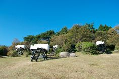 hidemi nishida studio floats five garden sky couches in japan