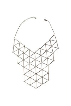Silver Matrix Necklace.. (WOW, i LOVE the 3D cascading cubical floors)