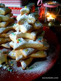 Χριστουγεννιάτικα μπισκότα - συνταγή mamatsita.com Xmas Food, Christmas Sweets, Christmas Cookies, Christmas Art, Christmas Recipes, Christmas Decorations, Holiday Baking, Christmas Baking, Food N