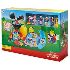 They can create their own Mickey Mouse Clubhouse memorable moments with this deluxe playset offering hours of activities. Mickey Mouse Clubhouse Decorations, Disney Mickey Mouse Clubhouse, Mickey Mouse Birthday, Minnie Mouse Toys, Second Birthday Ideas, 2nd Birthday, Jungle Theme Birthday, Cool Paper Crafts, Disney Cakes