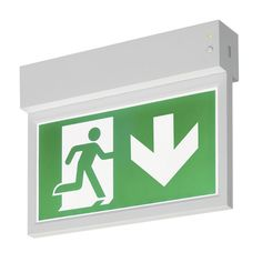 P-LIGHT Emergency Exit sign small ceiling/wall white  sc 1 st  Pinterest & 8 best Emergency Lighting Products images on Pinterest | Emergency ...