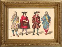 French Fashion History - Costumes of Paris - Century - XVIIth Century - Louis XIV - Lord - Small Abbot - Officer - Rich Man of the Bourgeoisie Louis Xiv, Pirate Garb, French Costume, The Wild Geese, 17th Century Fashion, Richard Ii, Scenic Design, Paris, Baroque