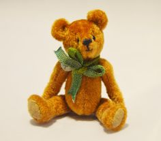 Dollhouse miniature teddy bear miniature art by EclecticWandering