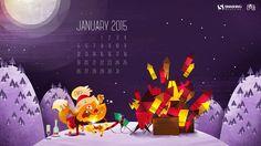 Desktop Wallpaper Calendars: January 2015