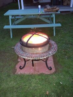 Love this fire pit idea made from a washer drum. (Great job, Chris!) :)