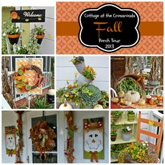 fall porch tour-Cottage at the Crossroads
