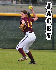 New Boston Lady Lion, #13 Jacey Solley is a junior playing center field.