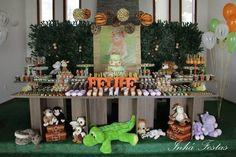 Safari Themed Birthday Party with So Many Cute Ideas via Kara's Party Ideas KarasPartyIdeas.com #safariparty #zooparty #wildanimalparty #animalparty #partydecor (36)