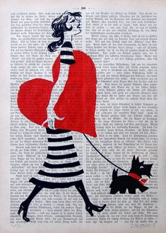 MY HEART giclee print poster mixed media painting by artretro, $12.00