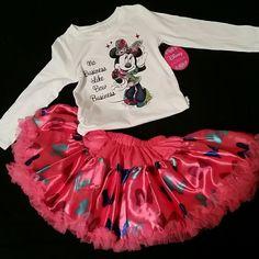 Girls Disney Tutu Couture outfit Girls 2-piece Disney Tutu Couture set (Minnie Mouse) size 4/5 small Disney Dresses
