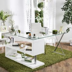 Furniture of America Marisa Contemporary High Gloss Convertible Executive Desk - 18170258 - Overstock - Great Deals on Furniture of America Desks - Mobile