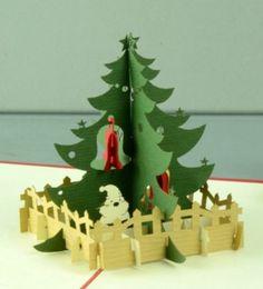 PopUpKarten für Weihnachten? Hier gibt es einen schönen Tannenbaum, schon fertig geschmückt.