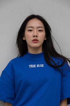 the true blue Mode Style, Style Me, Pretty People, Beautiful People, Sporty Chic, Lookbook, Korean Fashion, Blue Fashion, Fashion Art
