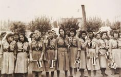 1958 Girl Guides from Syria. Antique Photos, Old Photos, Once Upon A Time, World Thinking Day, Girl Standing, Lost Soul, This Is Us Quotes, Girl Guides, Historical Pictures