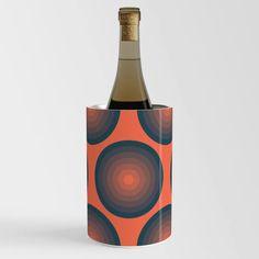 Blue And Orange Balls Wine Chiller Wine Chillers, Canisters, Balls, Steel, Orange, Cool Stuff, Bottle, Flask, Steel Grades