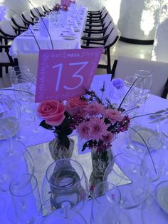 Románticos centros de mesa