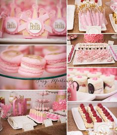 1st Birthday Party Photographer | Susy Martinez Photography Pink and Gold Tutu Princess Party Dessert Table