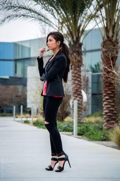 Black dress heels jeans