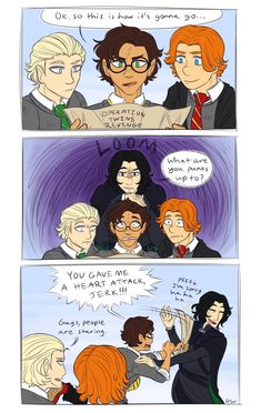 only acceptable AU in which Snape is portrayed as good (Harry and his brother Severus) Harry Potter Anime, Harry Potter Comics, Harry Potter World, Memes Do Harry Potter, Snape Harry Potter, Arte Do Harry Potter, Harry Potter Pictures, Harry Potter Ships, Harry Potter Universal