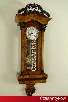 zegar wiszacy trzywagowy antyk wiedenczyk   piękno czasomierzy ... - Design Standuhr Pendel Antike