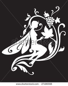 stock vector : Vector Illustration Silhouette of funky fairy on flower pattern design Flower Pattern Design, Flower Patterns, Fairy Silhouette, Vector Design, Vector Vector, Wood Carving Patterns, Scroll Saw Patterns, Beautiful Fairies, Paper Art